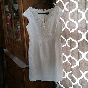 Taylor cap sleeve linen sheeth dress size 6